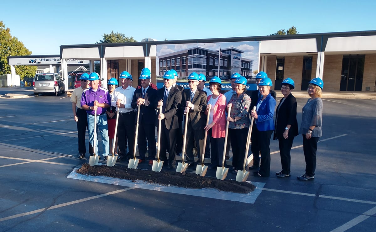 MidAmerica National Bank groundbreaking 9-26-19