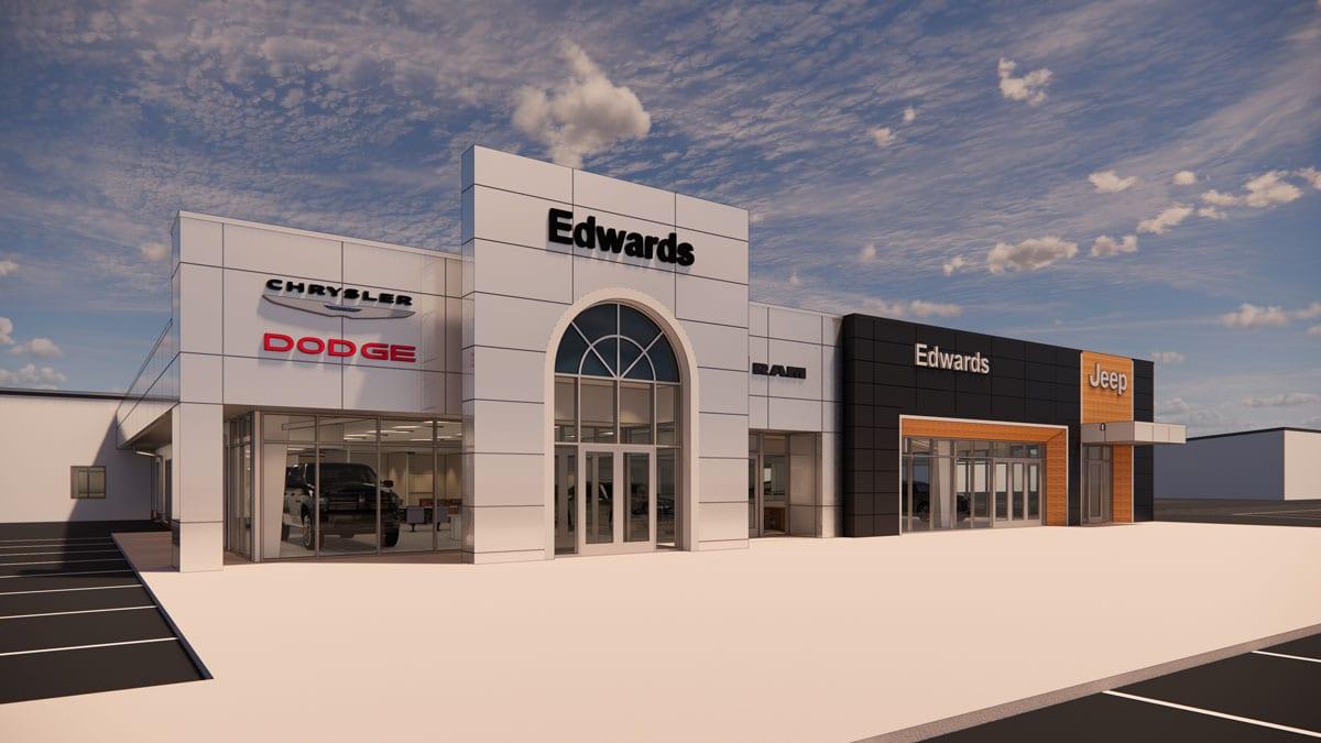 Edwards Chrysler Dodge Jeep Exterior Rendering