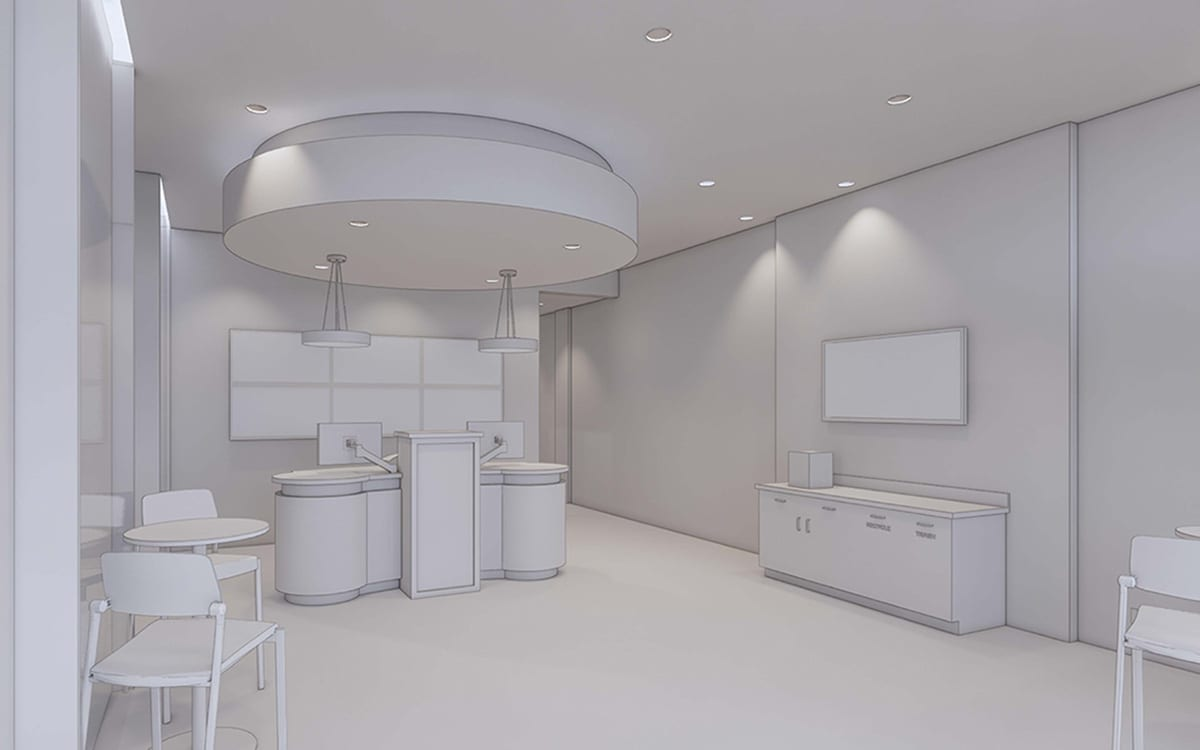 Community Trust Credit Union Interior Rendering